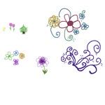 Digital Doodle Flowers