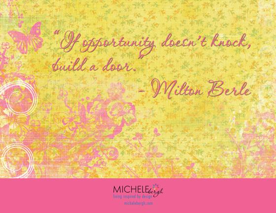 inspirational quote michele bergh art