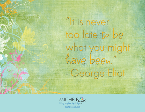never too late michele bergh art