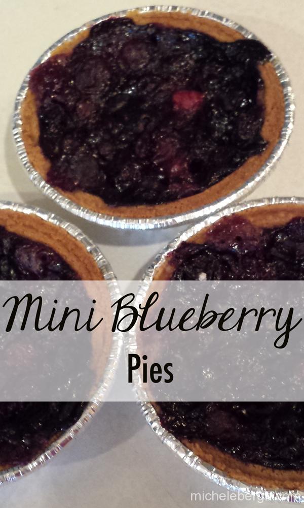 Mini Blueberry Pies with Graham Cracker Crust