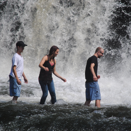 navigating the falls