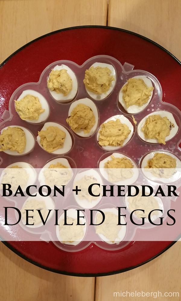 Bacon + Cheddar Deviled Eggs