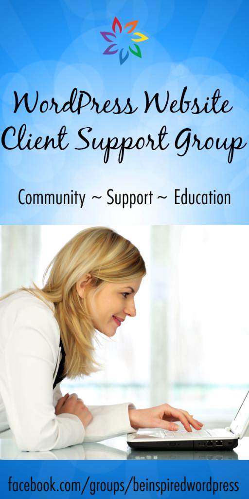 wordpress client support facebook