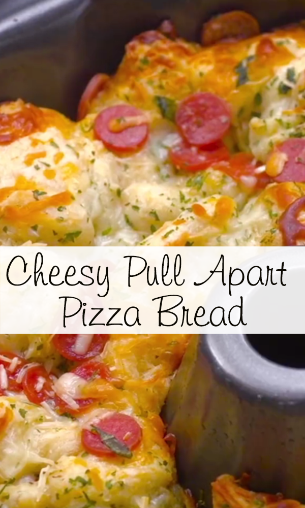 Cheesy Pull Apart Pizza Bread